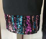Vince Camuto Sequin Hem Cocktail Dress - Black