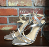 Vince Camuto Imagine Gian Sandal - Platinum Metallic Lizard