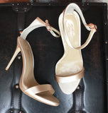 Imagine Vince Camuto Dacia Satin Sandal - Natural