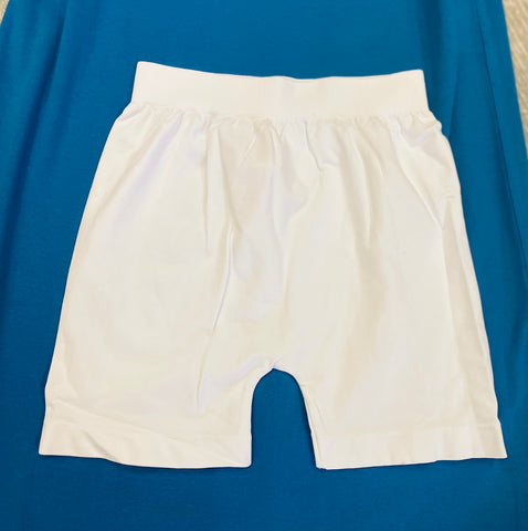 Must Have Fave Biker Boyshorts- One Size - White