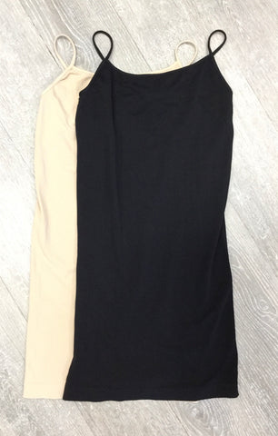Must Have Fave Seamless Camisole Dress Slip - One Size - Black