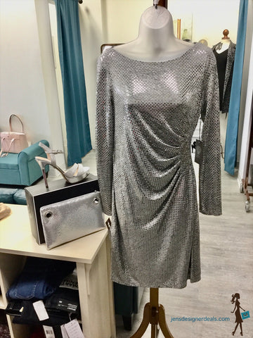 Vince Camuto long sleeve Sequin Shift Dress