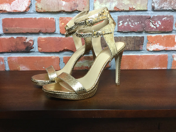 Michael Kors Ashby Stiletto Sandal Metallic Pale Gold