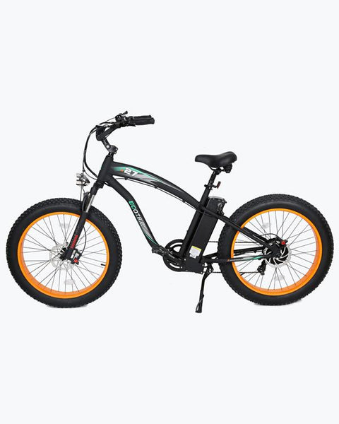 Ecotric 48V 1000W Hammer Fat Tire Beach Snow Electric Bike