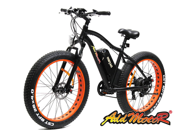 Addmotor Motan Orange Fat Tire 500W 48V Electric Bicycle