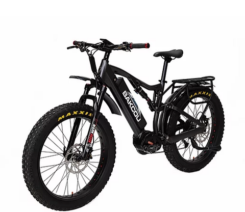 Bakcou Storm Mid Drive Electric 48V17.4AH Fat Tire Bike [PREORDER TAN/BLACK 10/31]