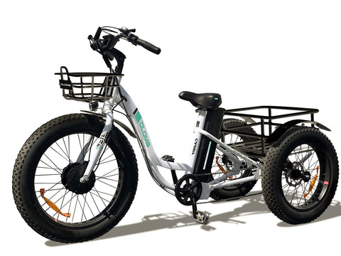 Emojo Caddy 48V 500W White Fat Tire Electric Trike