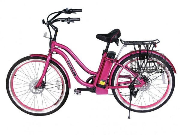 X-Treme Malibu 24V Step-Through Beach Cruiser Electric Bike