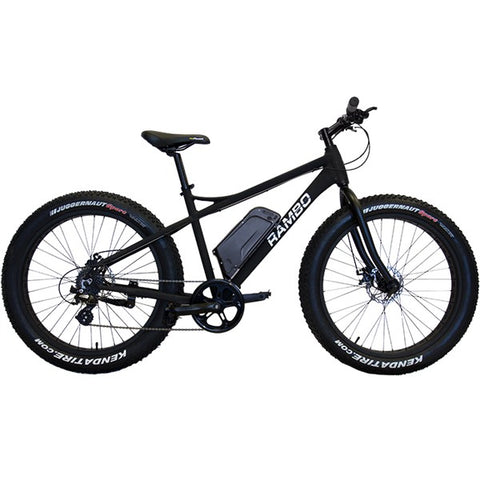 Rambo R750 G3 Matte Black 750W 48V Fat Tire eBike