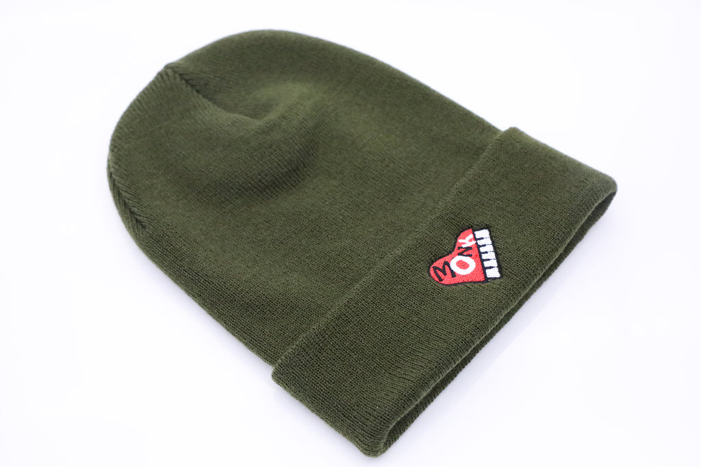 Green Monk Heart Beanie