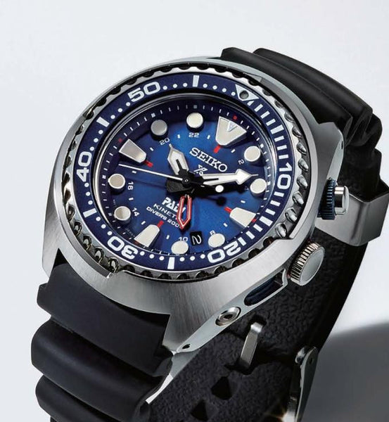 SUN065P1 Seiko Special Edition PADI Kinetic GMT Diver s – Roachmanwatch de05c84c06