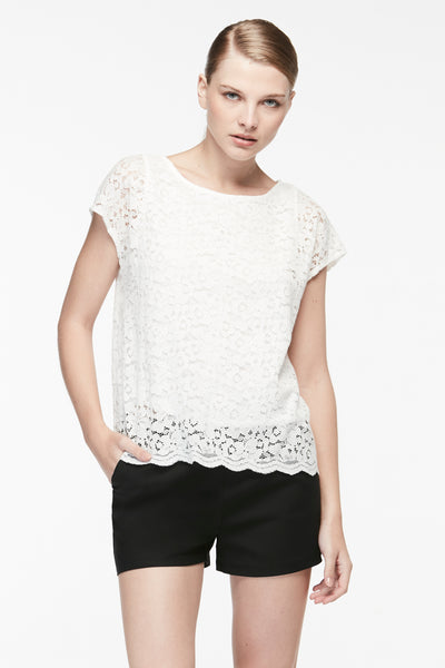 ROUND NECK LACE BLOUSE