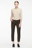 Back grosgrain waistband long pants