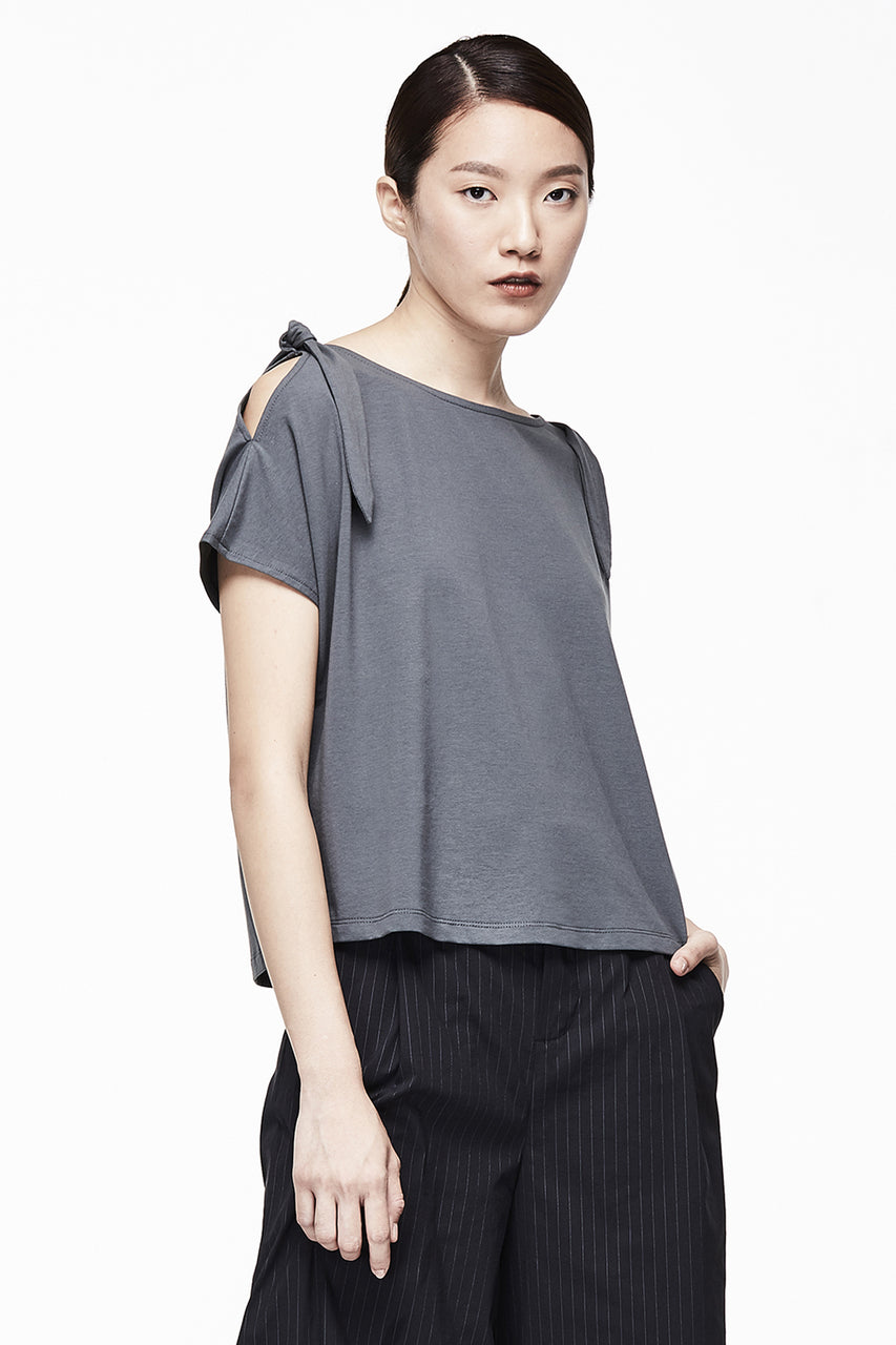 Bow Shoulder Tee