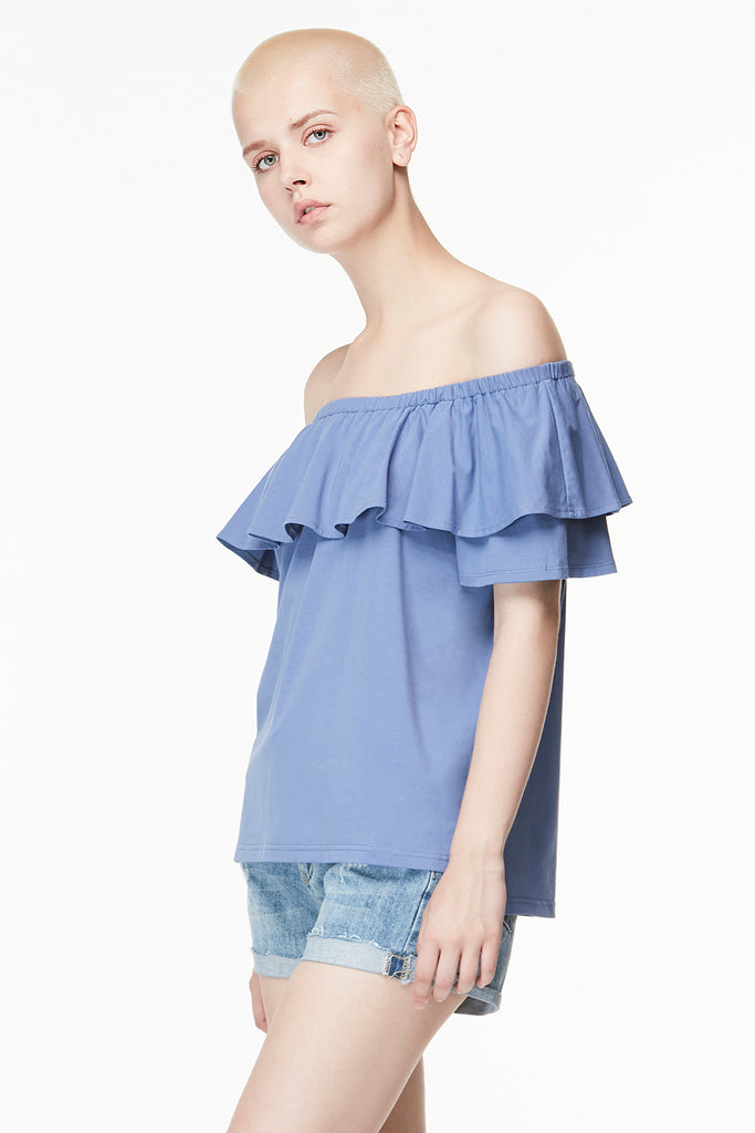 Off Shoulder Flappy Top