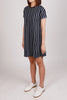 Stripes Big Pocket Shift Dress