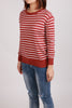Stripes Long Sleeves Knitted Top