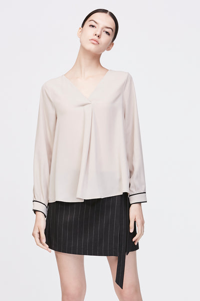 PANEL LONG SLEEVES BLOUSE