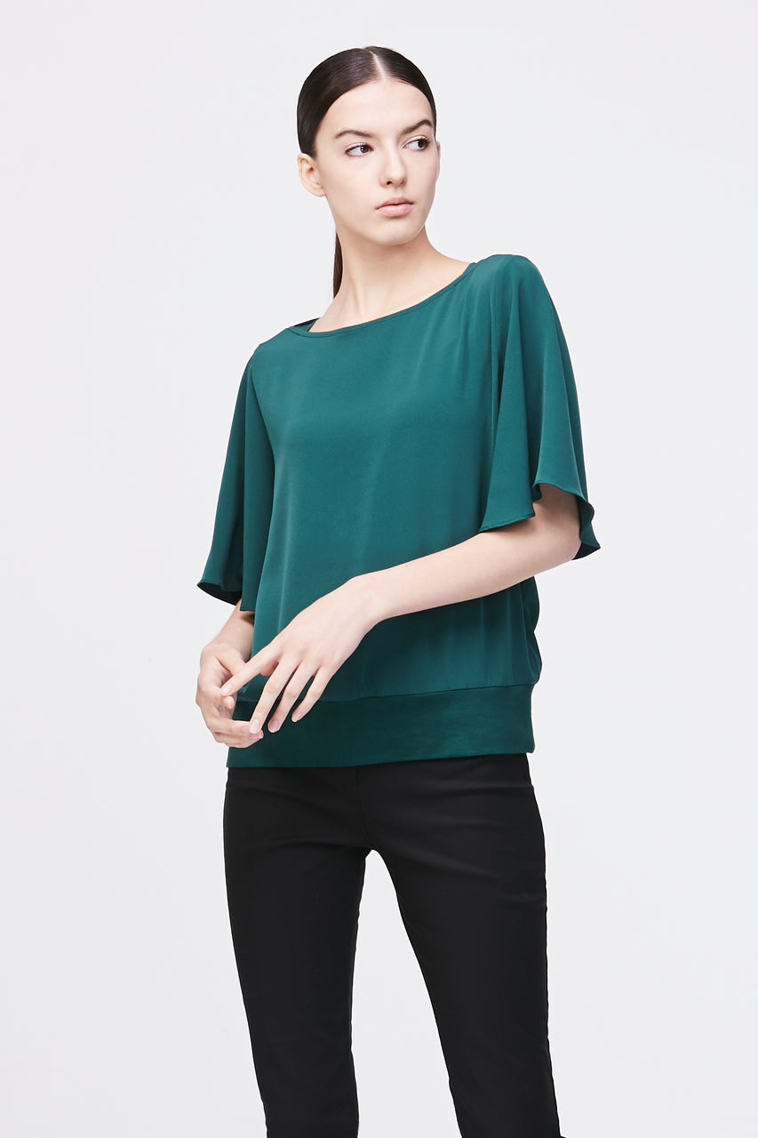 WIDE SHORT SLEEVES BLOUSE