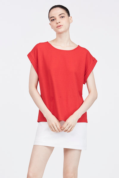 HEM SLEEVES TOP
