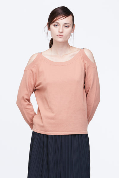 OFF SHOULDER STRAP KNIT