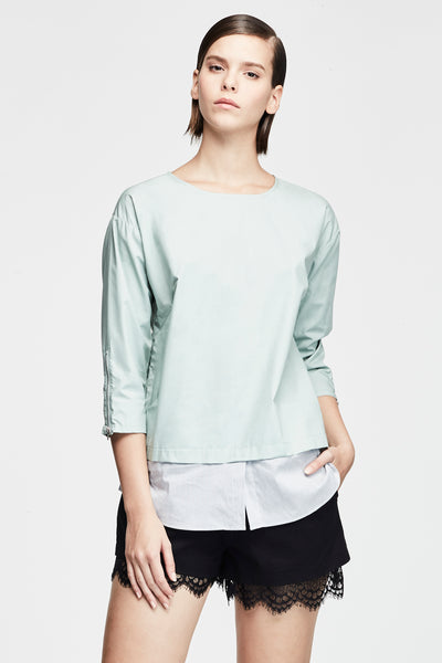 FAUX LAYERED BLOUSE
