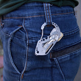 Multifunctional Quickdraw Key Holder Stainless Steel Carabiner