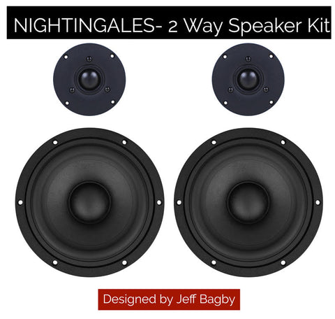 Nightingales by Jeff Bagby - 2-Way Speaker Kit Pair