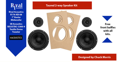 Taured - 2 Way (Kevlar) Kit Pair - Rhythm Audio Design