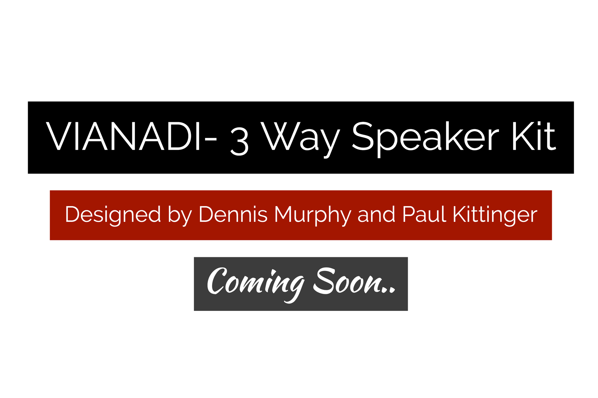 Vianadi - 3-Way Tower Speaker Kit Pair - Rhythm Audio Design