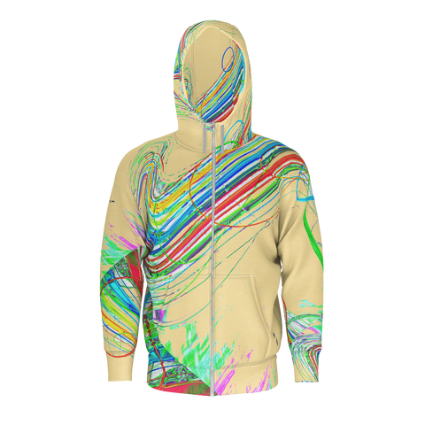 Color Highway - Zip Hoodie - Yellow