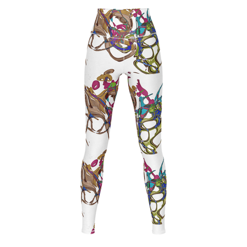 Color Keys White - Yoga Pants