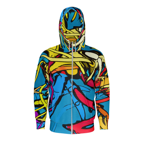 Colorful Fibers - Zip Hoodie