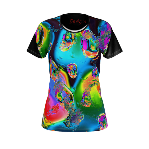 Bursting Colored Eggs Black - Women's Tee