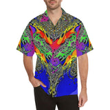 Color Flair Men's All Over Print V-Neck Shirt (Model T58)