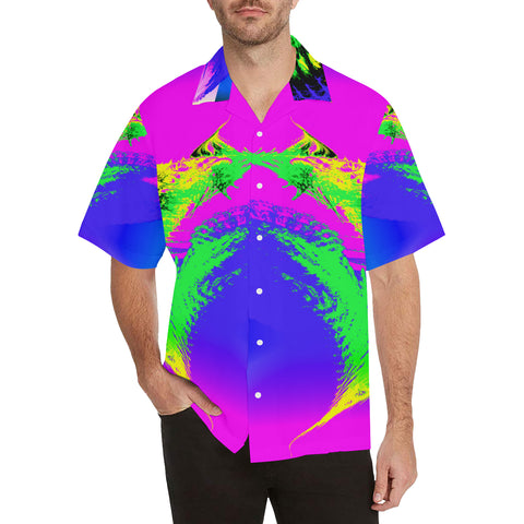 Tropical Sunrise Men's All Over Print V-Neck Shirt (Model T58)