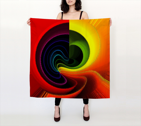 Color Swirl 2 - Square Scarf