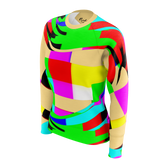 Color Waves Yellow - Womens Sweat Shirt
