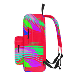 Color Waves Red - Calssic Backpack