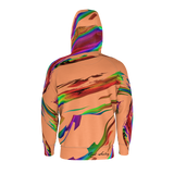 Rainbow Splash -Zip Hoodie Orange