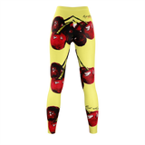 CHERRY DELIGHT - Yellow LEGGINGS