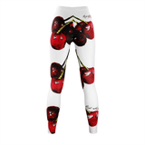 Cherry Delight - White Leggings
