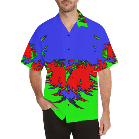 Power Swirl Men's All Over Print V-Neck Shirt (Model T58)