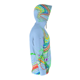 Color Highway - Zip Hoodie - Blue