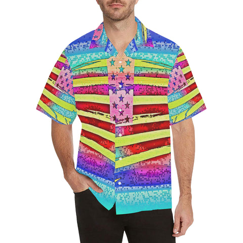 Patriotic Moment Men's All Over Print V-Neck Shirt (Model T58)