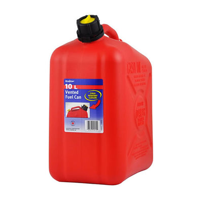 Plastic 10 Litre Fuel Can - Includes Pourer Spout