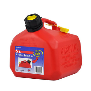 Plastic 5 Litre Fuel Can - Includes Pourer Spout
