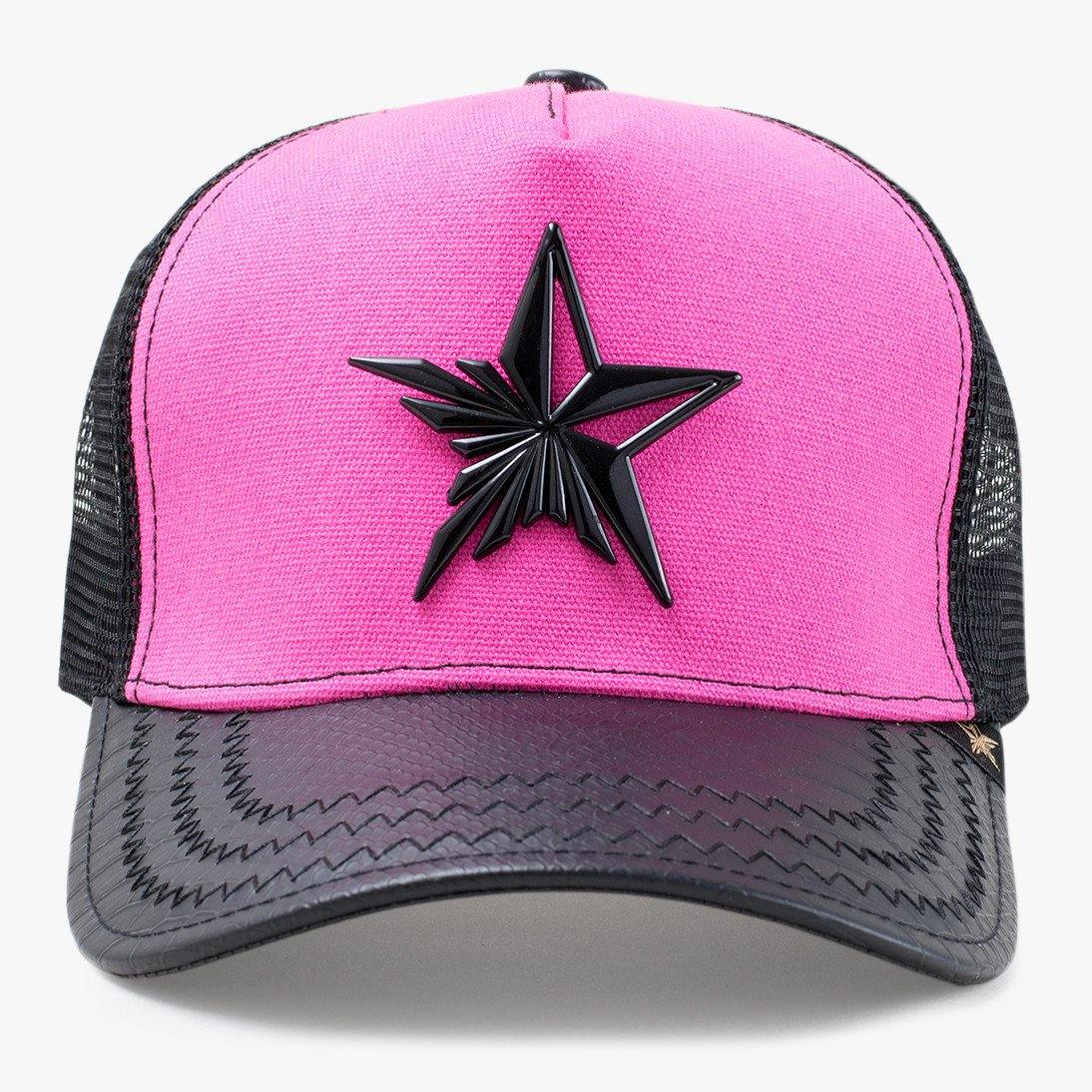 Star Black & Pink Trucker Hat