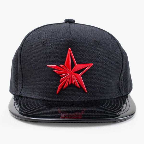 Star Red & Black Snapback Hat