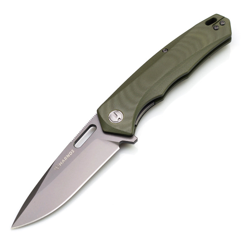 Harnds CK6118GN AUS-8 Steel G10 Scales Liner Lock